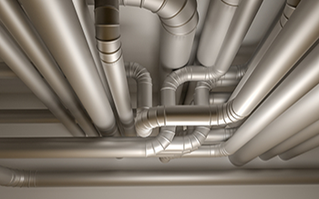 Photo of ceiling piping